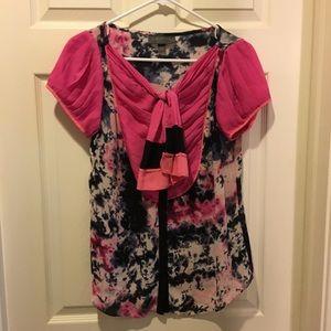Zac Posen for Target Pink Tie Dye Blouse, Size M